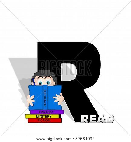 Alphabet Absorbed In Reading R