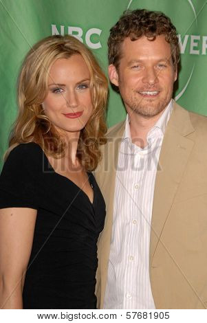 Taylor Schilling and James Tupper at the NBC Universal 2009 All Star Party. Langham Huntington Hotel, Pasadena, CA. 08-05-09