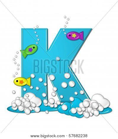 Alphabet Bubbly Fish K