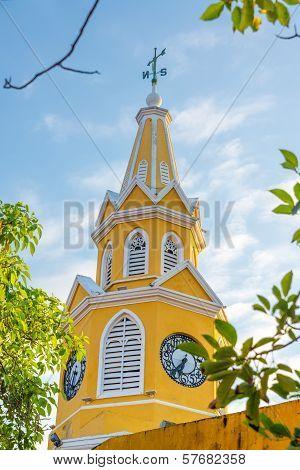 Yellow Clock Tower Gate