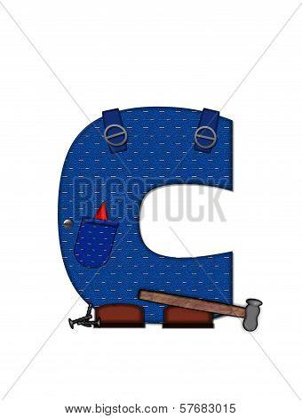 Alphabet Carpenter Tools C