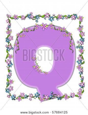 Alphabet Daisy Fair Lilac Q