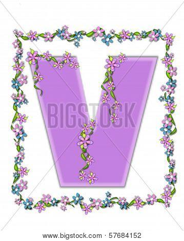 Alphabet Daisy Fair Lilac V