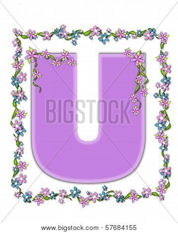 Alphabet Daisy Fair Lilac U