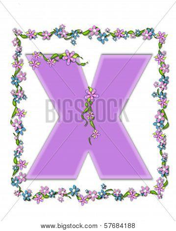 Alphabet Daisy Fair Lilac X