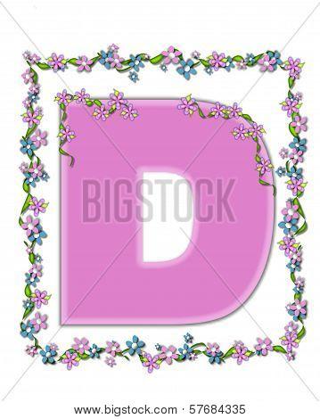 Alphabet Daisy Fair Pink D