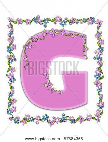 Alphabet Daisy Fair Pink G