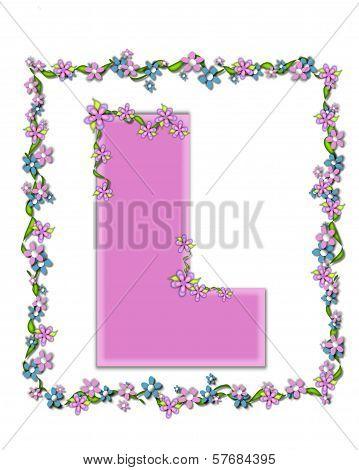 Alphabet Daisy Fair Pink L