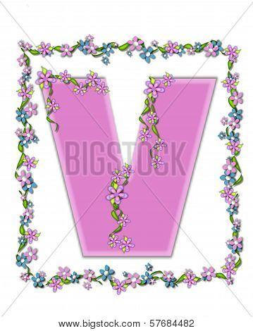 Alphabet Daisy Fair Pink V