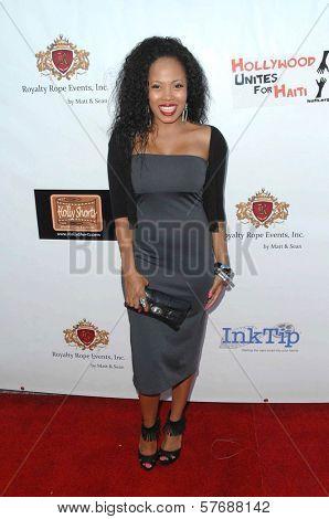 Suzette Tomlinson  at the Hollyshorts Haiti Charity VIP Webisode Celebration. Kress, Hollywood, CA. 08-08-09