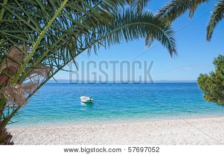 Beach at Makarska Riviera,Croatia
