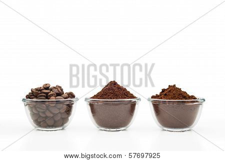 Three Kinds Of Coffee