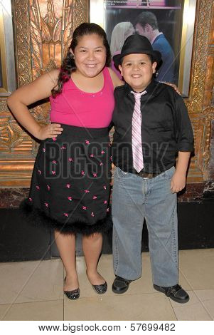 Raini Rodriguez and Rico Rodriguez  at the Los Angeles Premiere of 'Legally Blond The Musical'. Pantages Theatre, Hollywood, CA. 08-14-09