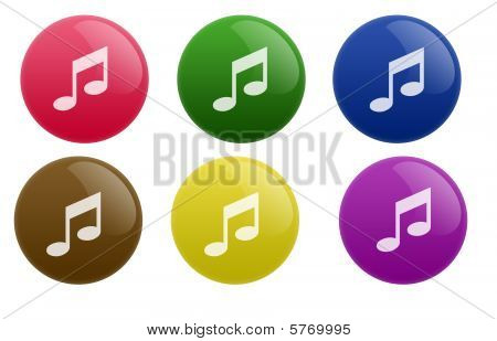 Glossy Music Button