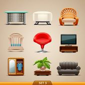 Furniture icons-set 3
