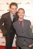 Nick Vujicic and Aaron Vujicic  at the Rock The Kasbah Gala to benefit Virgin Unite and the Eve Bran