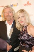 Richard Branson and Natasha Bedingfield at the Rock The Kasbah Gala to benefit Virgin Unite and the