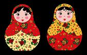 two russian dolls