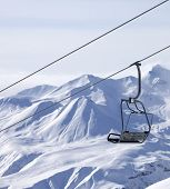 picture of lifting-off  - Chair lifts and off piste in fog - JPG