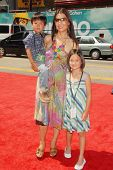 Ming-Na with her son and daughter at the World Premiere of 'G-Force'. El Capitan Theatre, Hollywood,