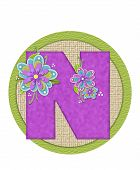 stock photo of letter n  - The letter N in the alphabet set  - JPG