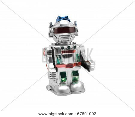 Silver toy robot