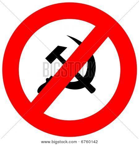 Anti Communism Sign