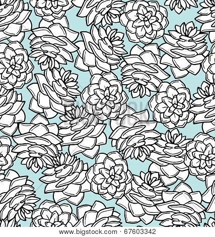 Pinecone Seamless Pattern