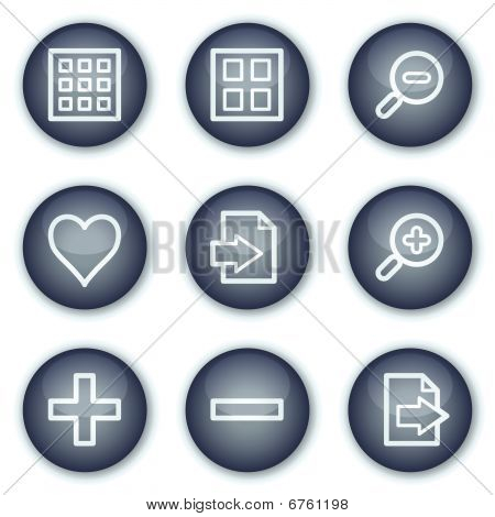 Image viever web icons set 1, mineral circle buttons series