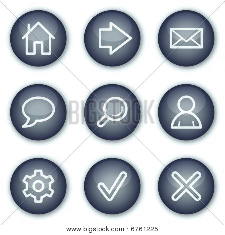 Basic web icons, mineral circle buttons series