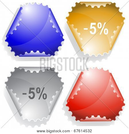 -5%. Raster sticker.