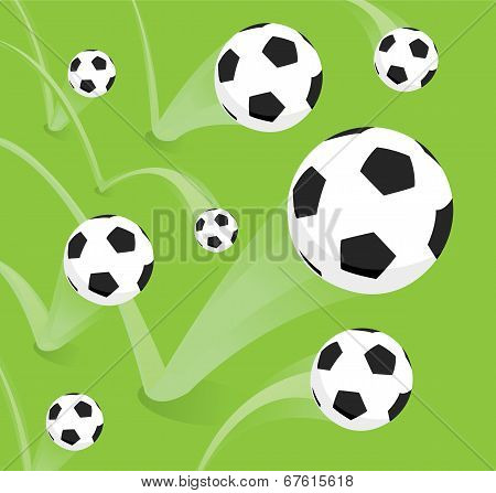 Group Of Bouncing Soccer Balls