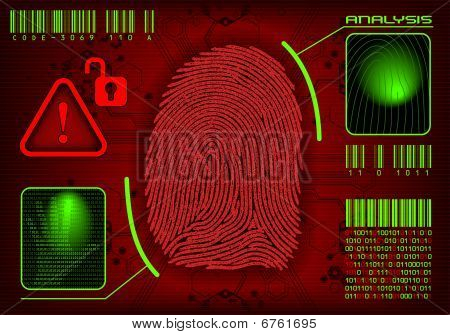 Fingerprint Access / It's a VECTOR, add or remove information