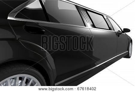 Black Limousine Side View