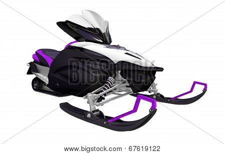 Purple Black Snowmobile