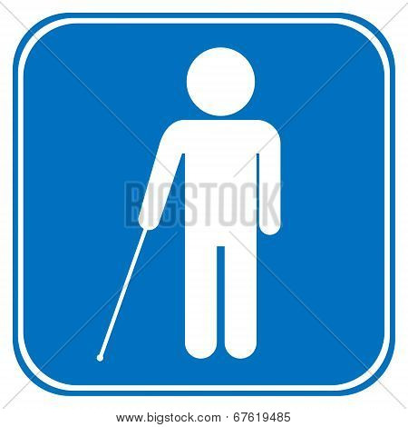 Blind Disabled Sign