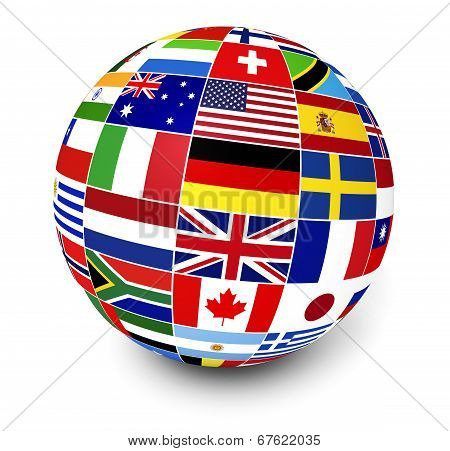 International Business World Flags