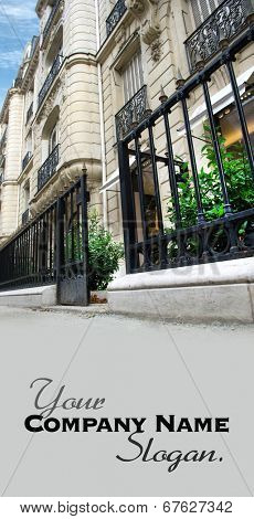 Entrance to an elegant Parisian shop