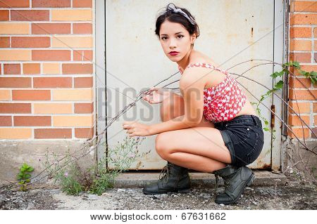 Rebellious teenage girl