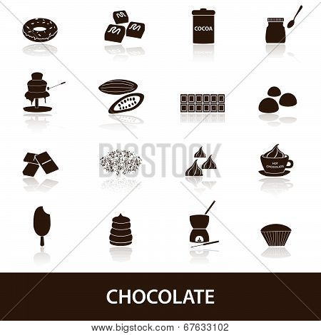 chocolate icons set eps10