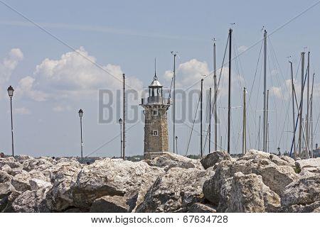 the port of Desenzano, Garda lake
