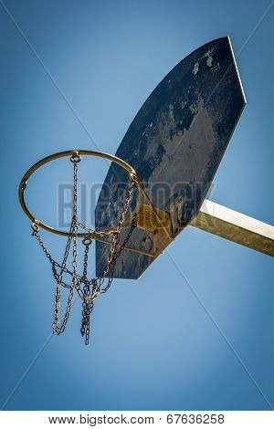 Basketball hoop in local park