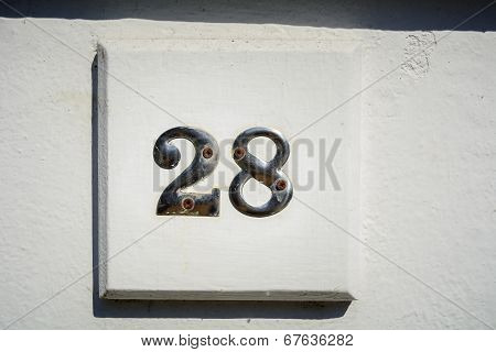 Number twenty eight