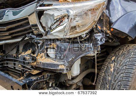 Details Of A Crash Car An Accident.