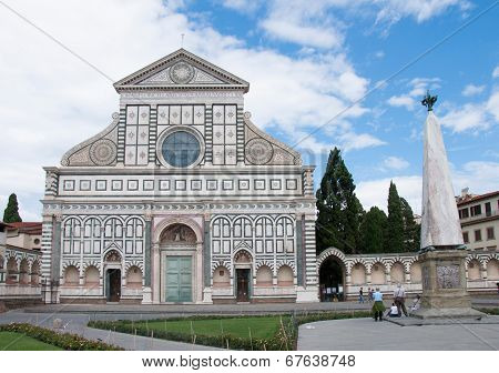 FLORENCE, JUNE 13, 2014:Church of Santa Maria Novella in Florence, Italy