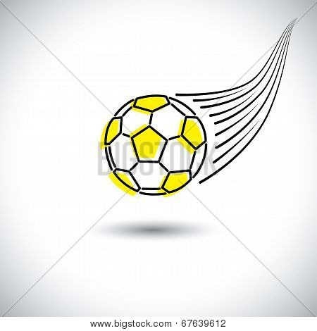 Fast Moving Soccer Or Football Vector Icon