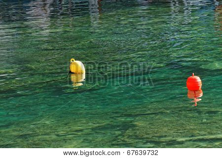 Buoys At Sea