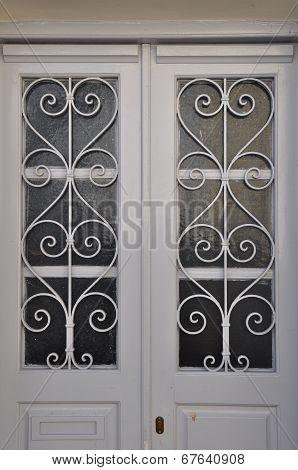 White Door Metal Pattern