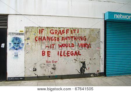 Banksy Graffiti, London