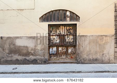 Wooden Door In The Old Town